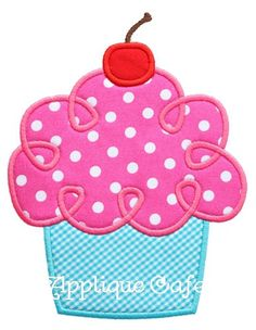 465 Loopy Cupcake Machine Embroidery by AppliqueCafeDesigns, $4.00