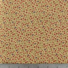 Tiny Floral on Light Brown Cotton Calico Fabric
