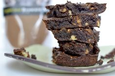 Are you in the mood for a DELICIOUS & warm gooey brownie? Me too, well I always am. When I found out I was #celiac I wasn't going to let that stop me from digging into brownies. These are the perfect dessert for anyone.   #paleorecipes #plantbased #superfoodbrownies #healthydesserts #glutenfreebrownies