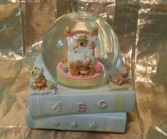 "Disney Winnie the Pooh ABC Musical Snow Globe Plays ""Hush Little Baby"" • £11.37…"
