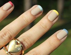 #nails French #manicure color