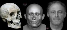 Facial reconstruction of 13th century man