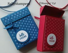 Flip Top Gift Box Great for a gift or a treat. Independent Stampin' Up!® Demonstrator UK.