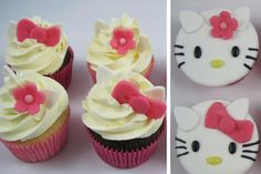 hello kitty cakes and cupcakes | hello kitty hello kitty cupcakes voor een candy table