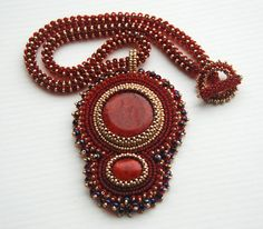 Temptation - Bead Embroidery Pendant