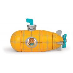 Just the one little man lives in this Yellow Submarine! 5 wooden pieces join together with magnets to form the submarine. Pull it apart to begin your puzzle and when you're finished, place it on the shelf for a gorgeous room decoration. Let your voyage to the bottom of the sea begin! All Janod toys are designed in France and manufactured to strict quality and safety standards, meeting both European and Australian requirements.