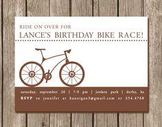 Bicycle Birthday Party Invitation