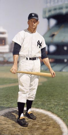 Mickey Mantle by Arthur K Miller.