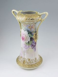 HAND PAINTED NIPPON PORCELAIN VASE