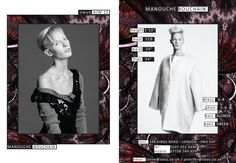 Manouche Bouchain AW15 show card. #London #AW15 #LondonFashionWeek #LFW #models #girls #runway #nevsshows #nevswomen