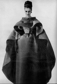 1961 - Balenciaga dress & cape by Tom Kublin for Harper's Bazaar: