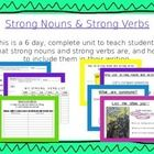 This is a comprehensive, 6 day, 163 slide, Power point unit that teaches student how to use specific nouns and verbs in their writing.  Includes printables for each lesson, games, teacher models and group work.