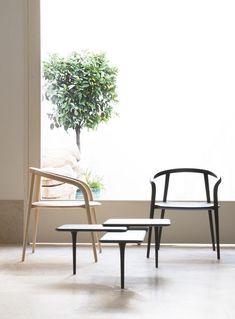 Sedia in faggio con braccioli ARANHA - BRANCA-LISBOA