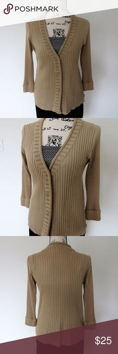 MORGAN Beige Cardigan A unique beige cardigan, bought in European boutique. Brand - MORGAN. Size - fits S. Excellent pre-owned condition. MORGAN Sweaters Cardigans
