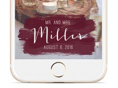 Brush Strokes Wedding Snapchat Geofilter | Custom  Geofilter | Birthday…