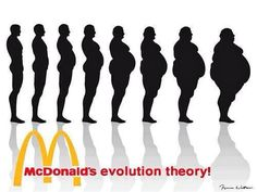 Human Evolution Theory according to McDonald's -- Also known as S.A.D. (Standard American Diet).