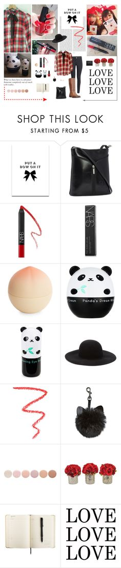 """Fashion journal: Plaid shirt whit removable black bow"" by aleksa ❤ liked on Polyvore featuring Oris, SS Print Shop, NARS Cosmetics, Tony Moly, Forever 21, OPI, Deborah Lippmann and The French Bee"
