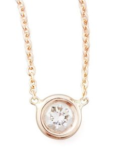 Rose Gold Diamond Pendant Necklace by Roberto Coin at Neiman Marcus.