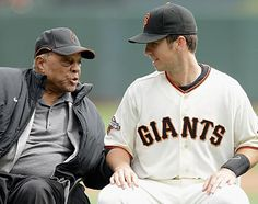 Willy Mays and Buster Posey