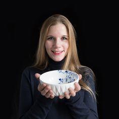 Tableware 'Blauw Vouw' - design Romy Kuhne - Heinen Delfts Blauw