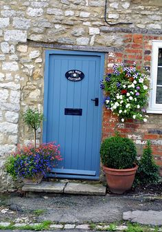 The cottages front door