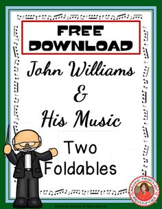 This file contains two different foldables in both color and b/w. MEET JOHN WILLIAMS foldable: Students record facts they are learned about the composer. Music Lessons For Kids, Music Lesson Plans, Piano Lessons, Music Classroom, Music Teachers, Classroom Resources, Middle School Music, Music Worksheets, Music Activities