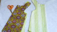 how to sew a reversible dress. Til jentene, eller til meg sjøl? Jumper Patterns, Girl Dress Patterns, Baby Patterns, Clothing Patterns, Sewing Patterns, Doll Patterns, Dress Tutorials, Sewing Tutorials, Sewing Hacks