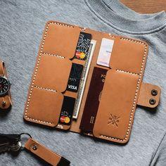 Men Leather Wallet Men wallet / cardholder by NadaliniLeather - . - - Men Leather Wallet Men wallet / cardholder by NadaliniLeather – snowflower Leather Passport Wallet, Leather Wallet Pattern, Handmade Leather Wallet, Diy Leather Goods, Leather Gifts, Crea Cuir, Diy Sac, Diy Wallet, Leather Workshop