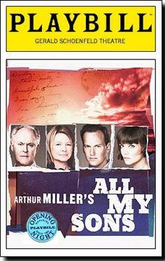 Arthur Miller's All My Sons staring John Lithgow, Dianne Wiest & Katie Holmes - Gerald Schoenfeld Theatre - September, 2008