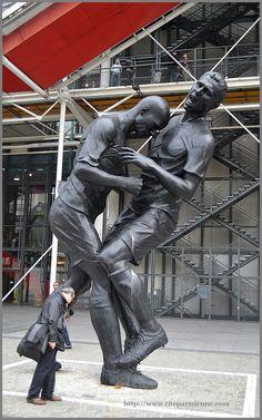 Le coup de boule de Zinedine Zidane immortalisé à Beaubourg, PARIS