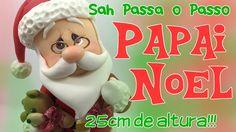 DIY - PAPAI NOEL Decorativo em Biscuit - Especial 20k de Inscritos - Sah...