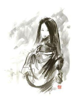asian women face Painting   Geisha Japanese woman beauty maiko geiko portrait beautiful face ...
