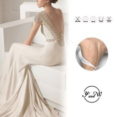 002a6665ab3 Deep U Plunge Low Back Underwire Push up Demi Bra for Wedding Party