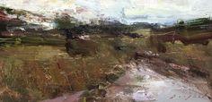 """Atwood Fields by Simon Addyman Oil ~ 8"""" x 16"""""""
