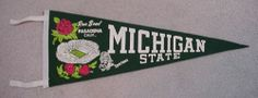 '66 Michigan State Spartans Rose Bowl Pennant UNSOLD | eBay