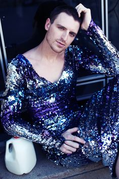 MILK Daniel Donigan Photo : Hadar Pitchon for Gayletter Guys In Skirts, Men Wearing Dresses, Man Skirt, New Mens Fashion, Androgynous Fashion, Pretty Men, Dress And Heels, Female Portrait, Beautiful Gowns