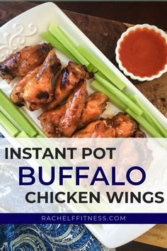 These Instant Pot Buffalo Chicken Wings are tender and flavorful and can be ready in less than 30 minutes! After you make this healthy version of buffalo chicken you will never want to have them any other way! Quick Easy Meals, Healthy Dinner Recipes, Whole Food Recipes, Clean Eating, Healthy Eating, Healthy Food, Dinner Dishes, Buffalo Chicken, Healthy Chicken Recipes