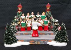 Department 56 Village Animated Holiday Singers Accessory for sale online Department 56, Singers, Christmas Tree, Animation, Snow, Holiday Decor, Teal Christmas Tree, Xmas Trees, Animation Movies