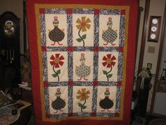Chicken Quilt for my wife !  She loves chickens..