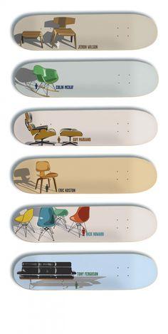 Eames Chair Skate Decks by Girl Skateboards
