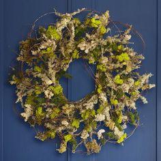 Moss Twig Wreath #williamssonoma