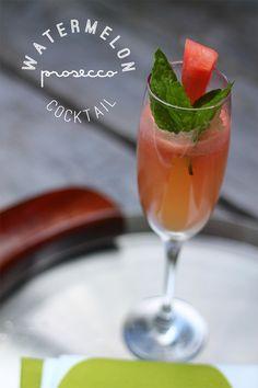 Prosecco Watermelon Cocktail