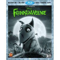 Frankenweenie (Four-Disc Combo: Blu-ray 3D/Blu-ray/DVD + Digital Copy): Winona Ryder, Catherine O'Hara, Martin Short, Martin Landau, Charlie Tahan, Atticus Shaffer, Tim Burton