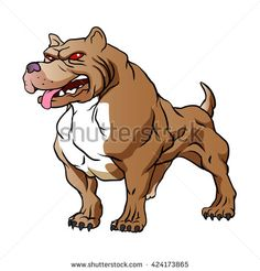 strong pitbull bodybuilder.