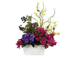 Artificial Flower Arrangements for the Home   Beautiful Artificial Silk Flowers Arrangements for Home Decoration