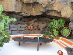 Canary Islands: Lanzarote - house designed by artist and architect Cesar Manrique.