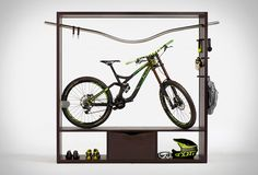 Available now for purchase is the spectacular Bike Shelf by Vadolibero. The sleek furniture piece is dedicated to urban bikers, and it has been especially designed to transform one´s bicycle into an indoor sculpture or feature piece, allowing you to