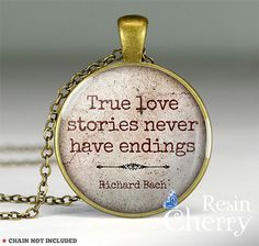 Richard Bach quote necklace pencant quote pendant by resincherry, $11.95