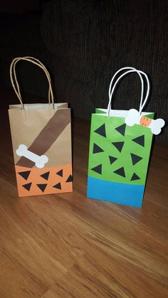10 Bam Bam and Pebbles Party Favor Bags by EJsCreation on Etsy