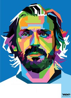 Andrea Pirlo in WPAP by Rahmat Kurniawan, via Behance